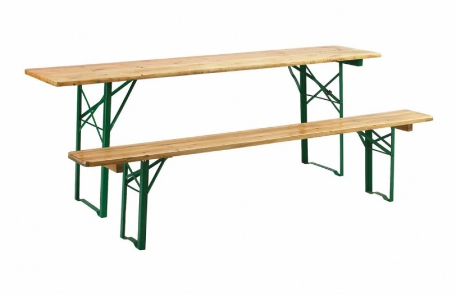 Rectangular wooden event table