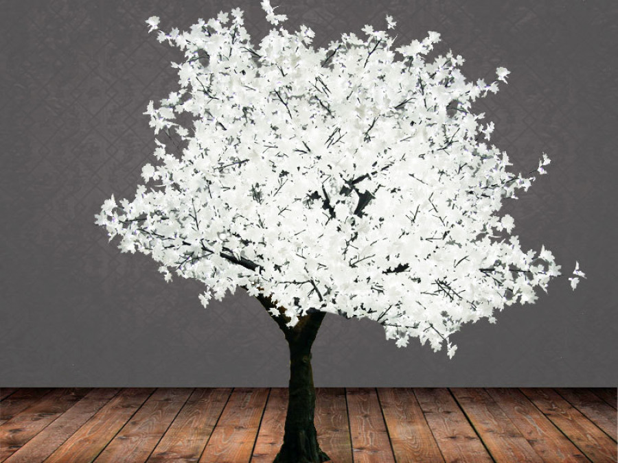 White luminous tree