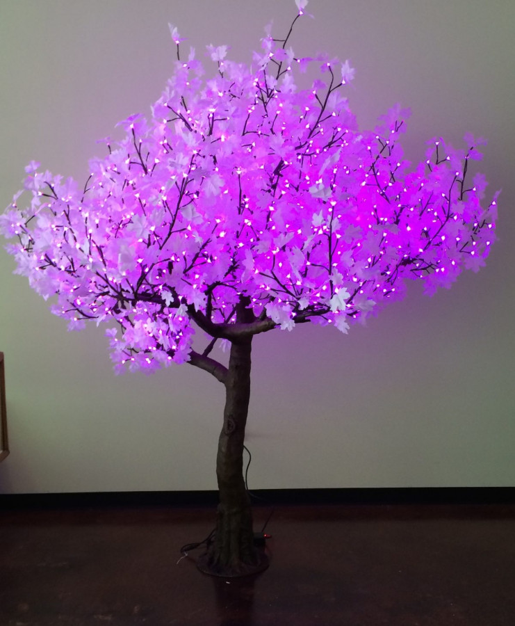 Pink luminous tree