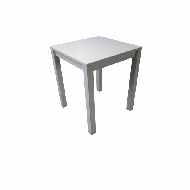 Square white wooden high table
