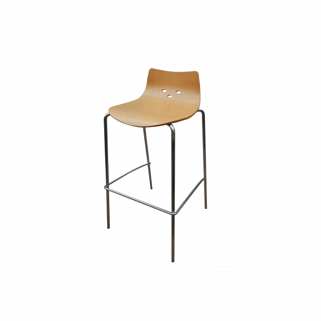 PROFIM Wooden high stool
