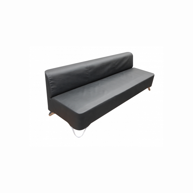 3-seater sofa PROFIM  - black