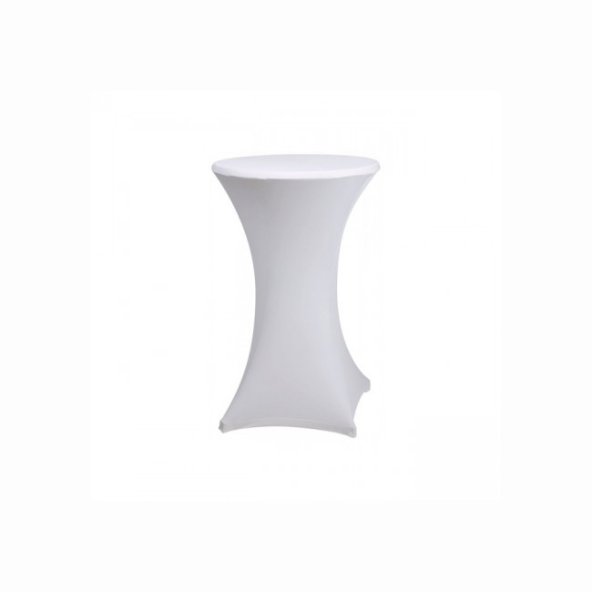 White high table cover Ø 60 CM