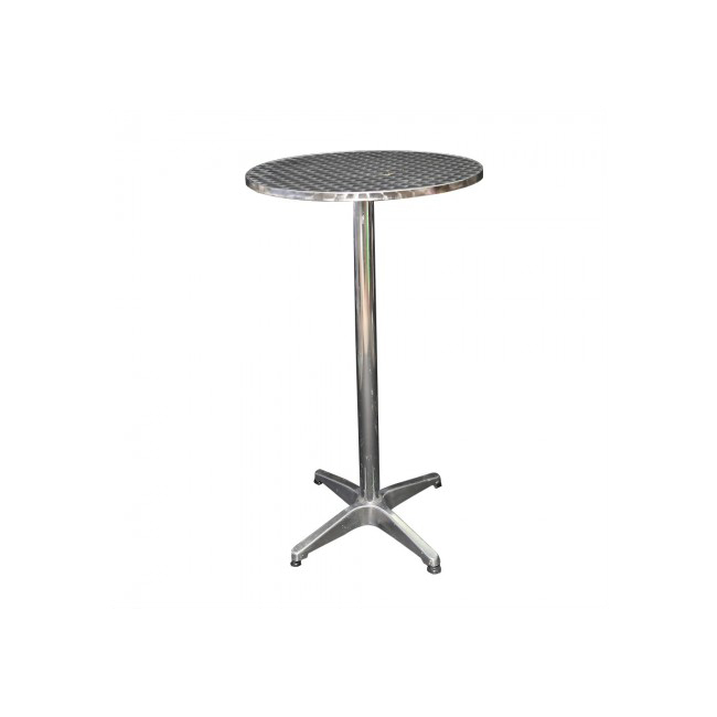 Foldable aluminium high table Ø 70 cm