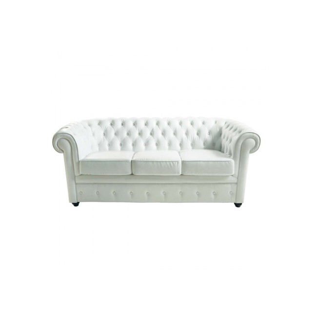 Chesterfield white sofa