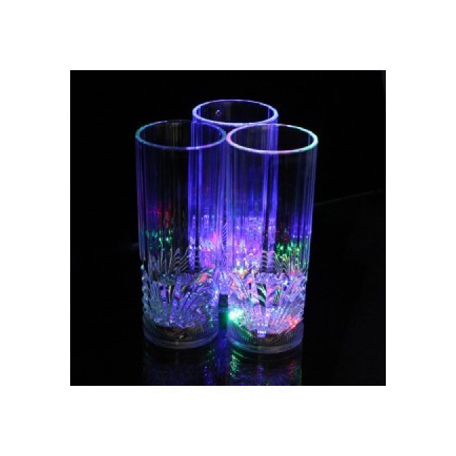 Luminous plastic glass