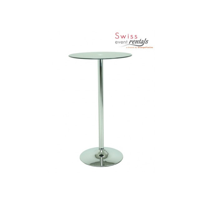Glass high table - Ø 60 cm
