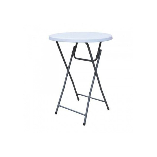 Foldable plastic high table Ø 80 cm