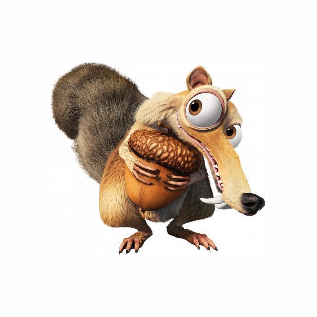 Standee of Ice Age - Scrat and his acorn