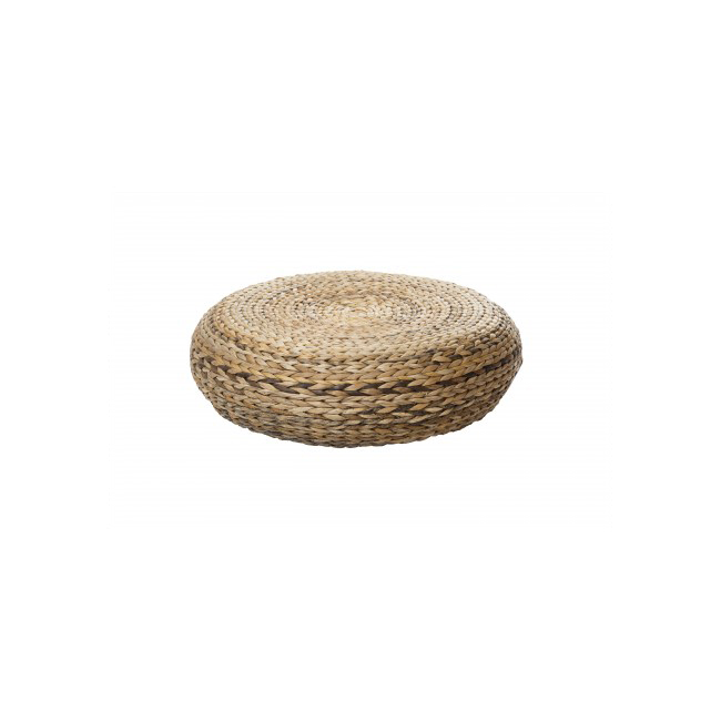 Oriental pouf made of braided banana fiber