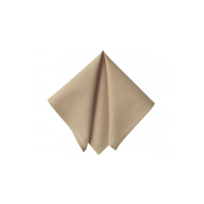 Baroque style sand colored towel 0.40 x 0.40 m