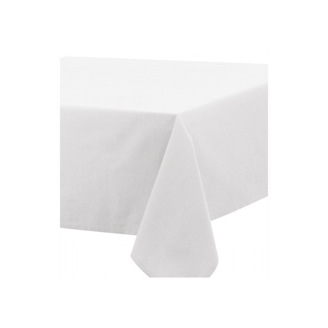 Square white tablecloth 2.40 x 2.40 m